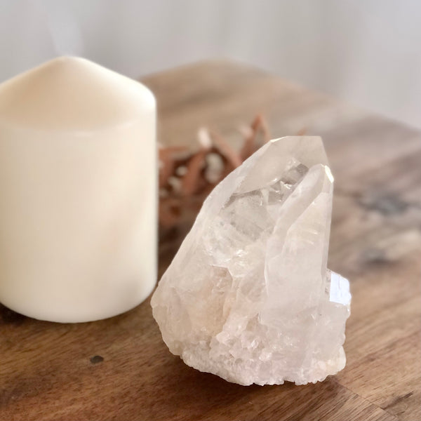 Australian gift, crystal, decor online shop: Clear quartz crystal point generator cluster