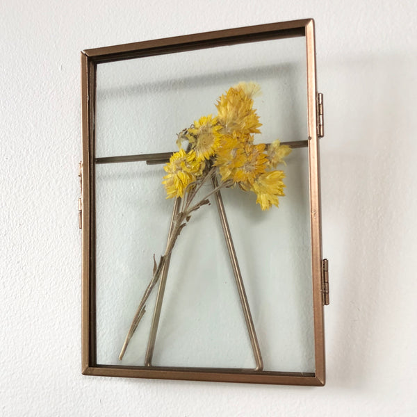 Copper and glass photo frame