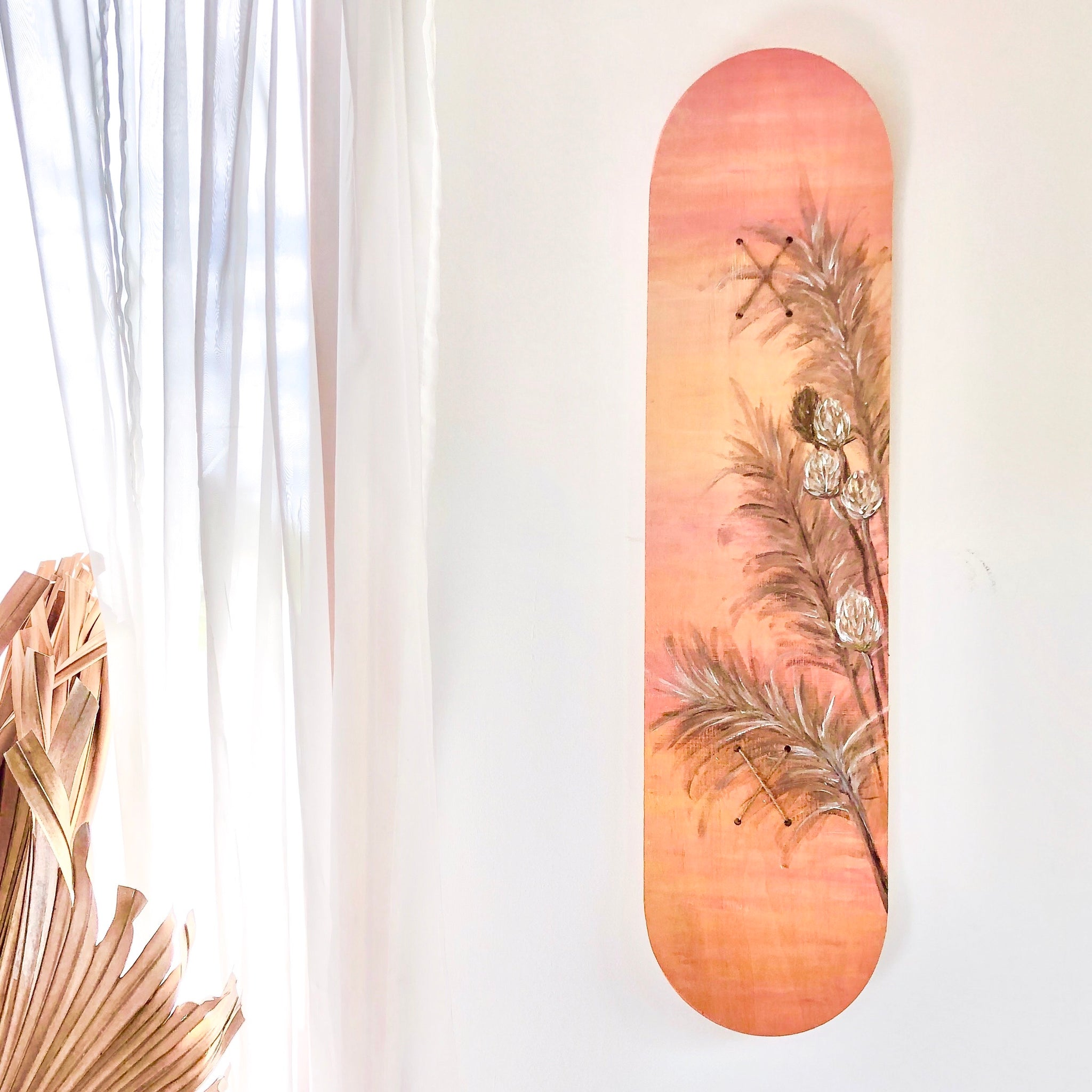 Wild grasses original artwork skateboard deck