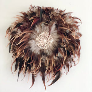 African feather Juju hat wall decor
