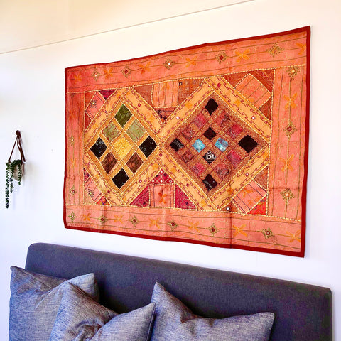 Indian embroidered tapestry A