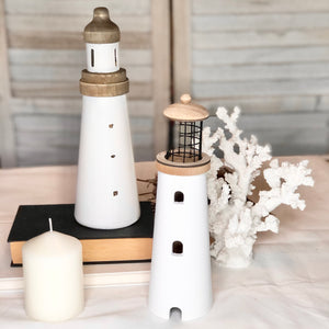 Gift, decor and crystal shop Australia: Hamptons wooden lighthouse statue