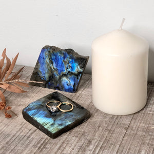 Gift, decor and crystal shop Australia: Labradorite slice slab / ring tray