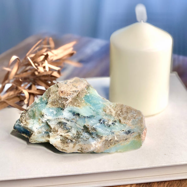 Peruvian raw opal crystal wedge
