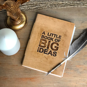 Leather big ideas journal
