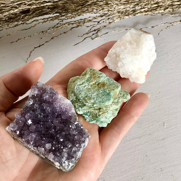 Australian gift, crystal, decor online shop: Trio of crystals - gift for protection + renewal