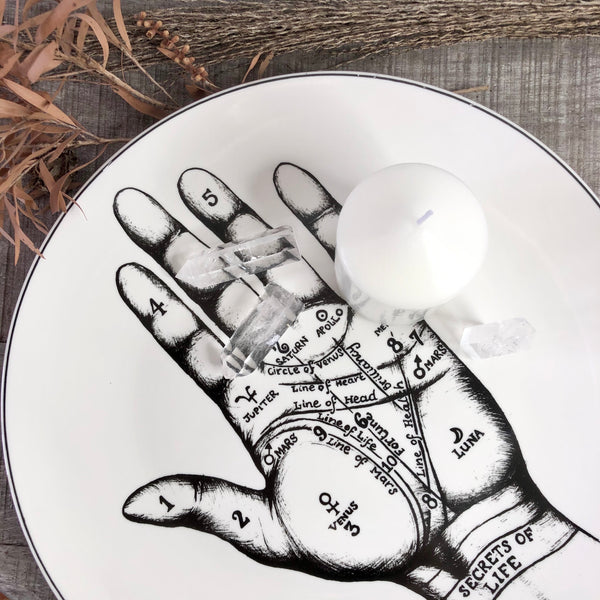 Australian gift, crystal, decor online shop: Palmistry plate wall decor