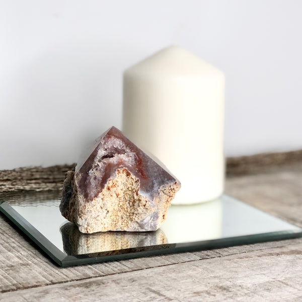 Australian gift, crystal, decor online shop: Pink Amethyst crystal standing point