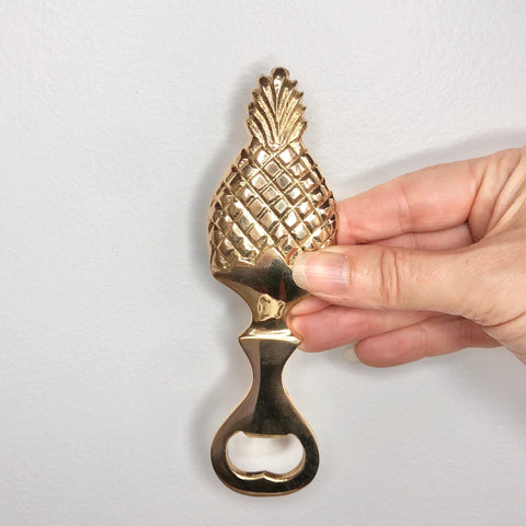 Pineapple brass bottle opener