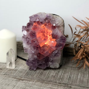 Gift, decor and crystal shop Australia: Amethyst crystal cluster lamp 2.6kg
