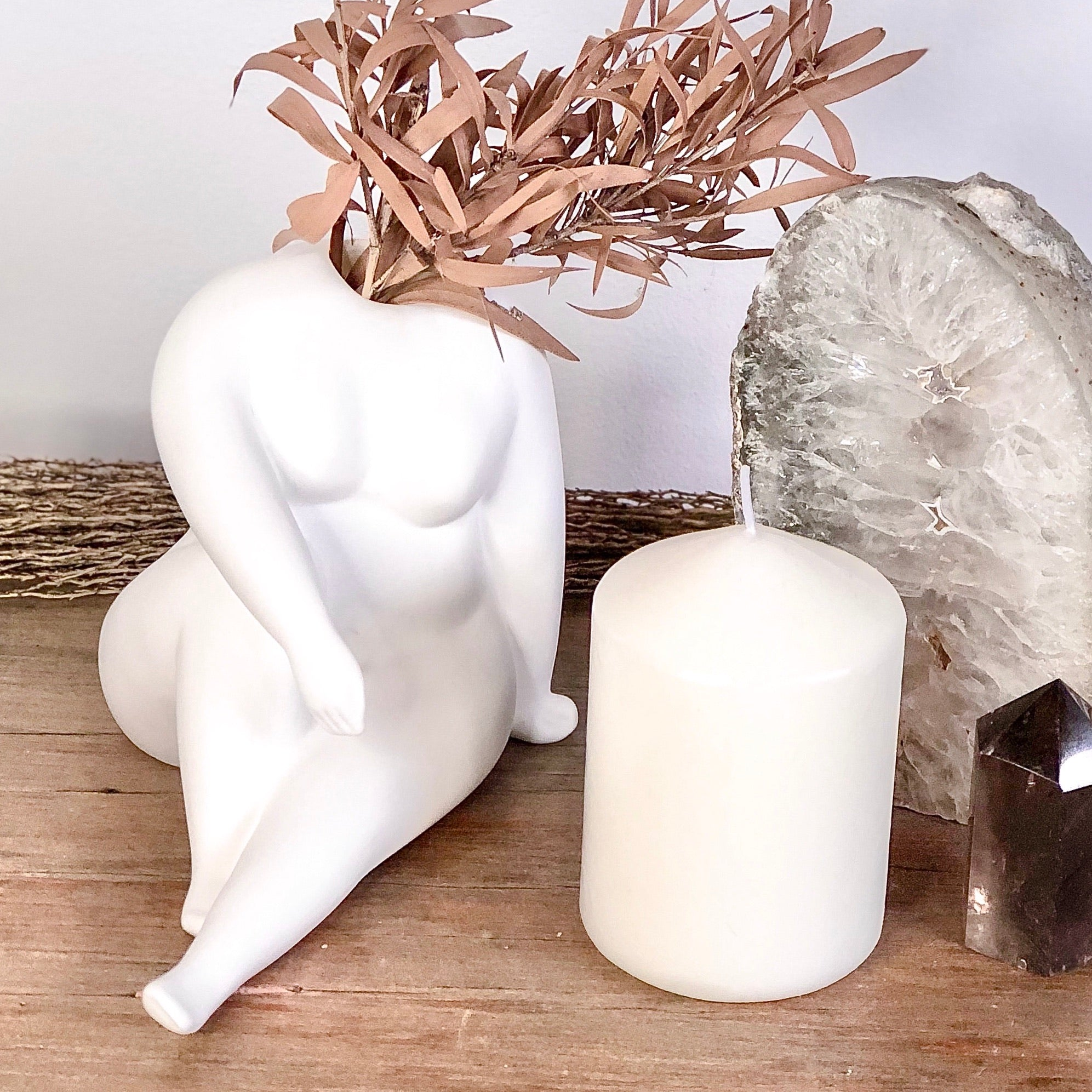 Gift, decor and crystal shop Australia: The nude reclines pottery vase