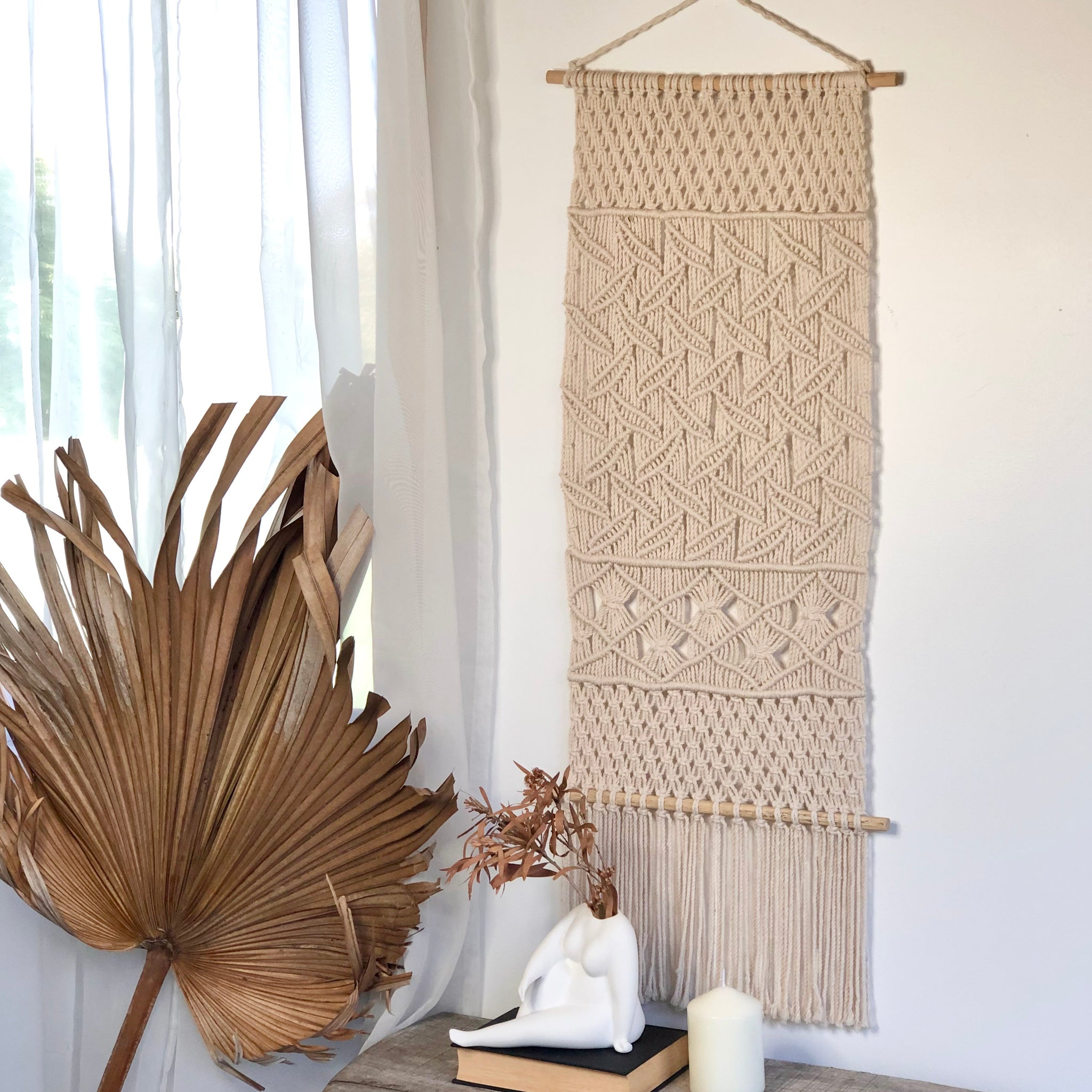 Gift, decor and crystal shop Australia: Hamptons macrame wall decor