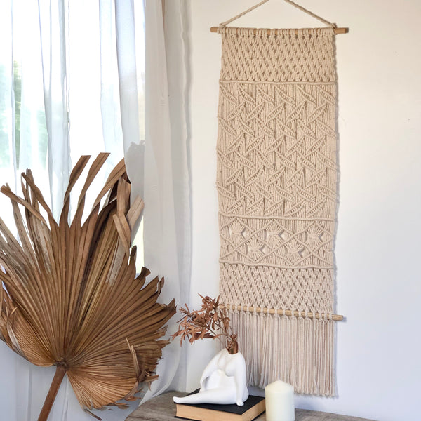 Australian gift, crystal, decor online shop: Hamptons macrame wall decor