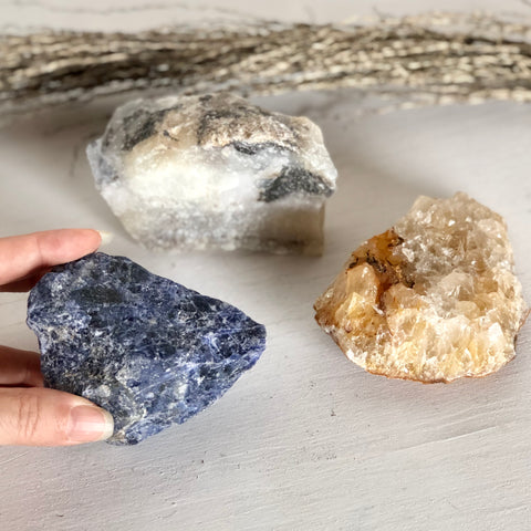 Trio of crystals - gift for balance + healing