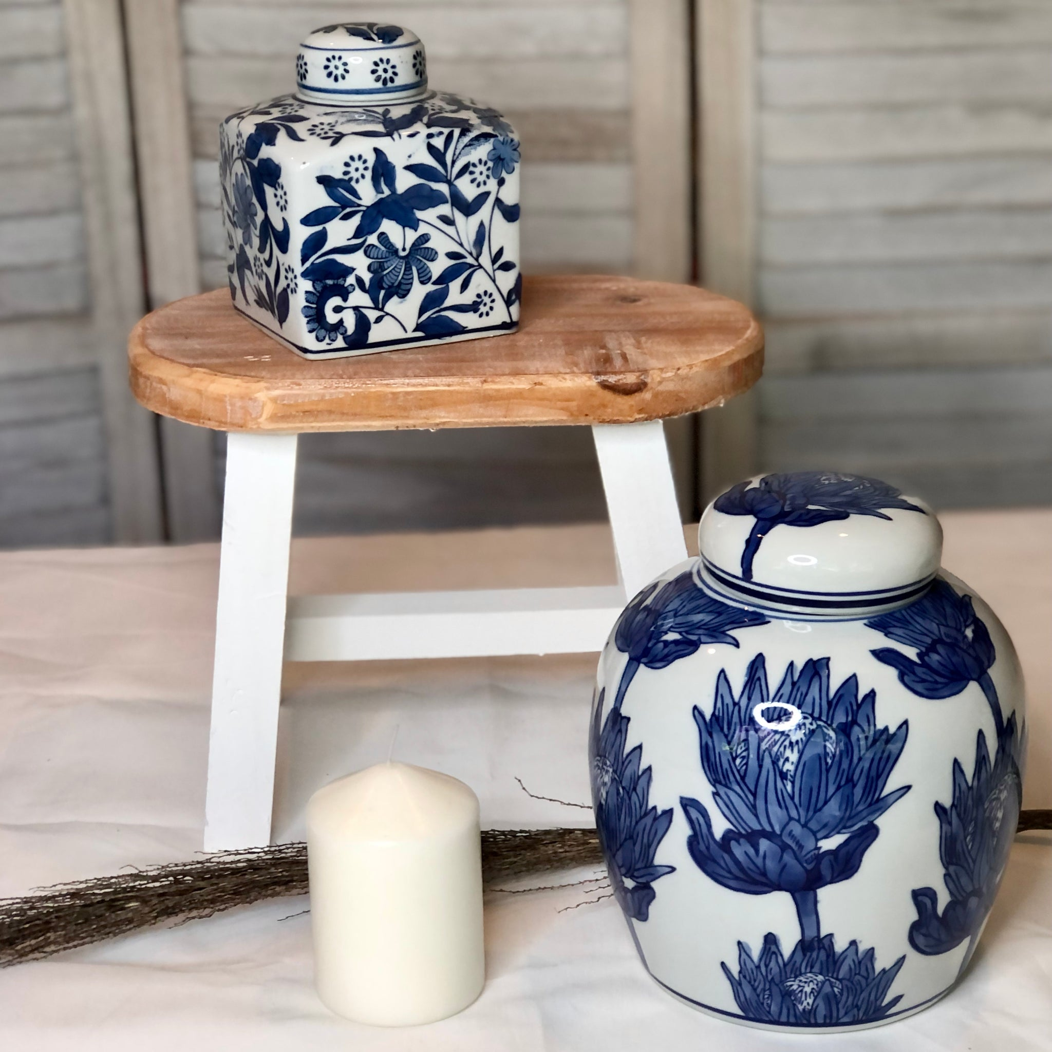 Gift, decor and crystal shop Australia: Blue + white floral ginger jar