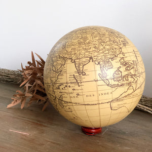 Gift, decor and crystal shop Australia: The world map globe sphere ivory