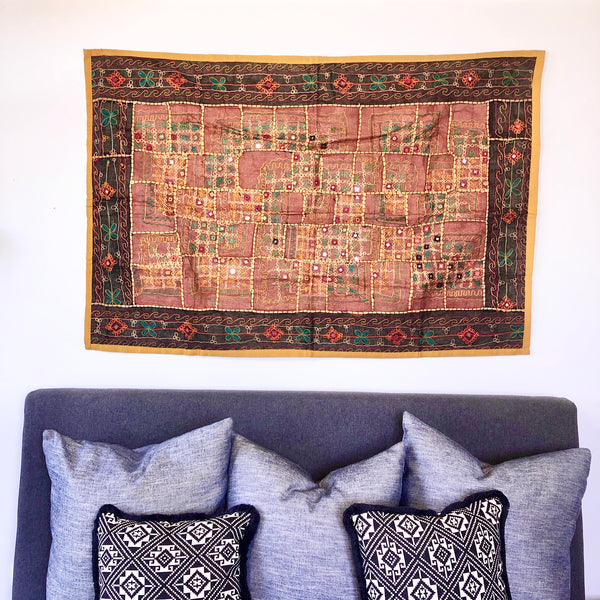 Australian gift, crystal, decor online shop: Indian embroidered tapestry B