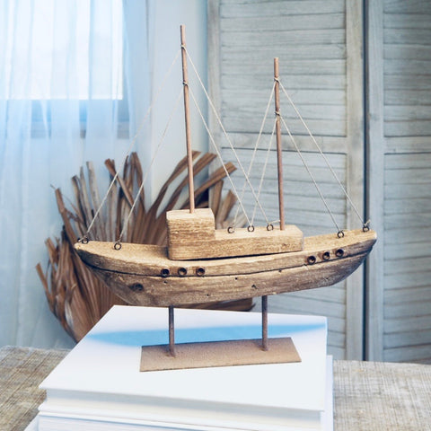 Sailing ketch boat statue