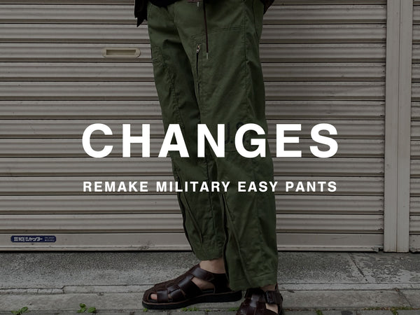 CHANGES / REMAKE MILITARY EASY PANTS-US