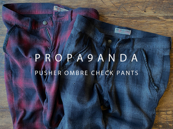 PROPA9ANDA / PUSHER OMBRE CHECK PANTS