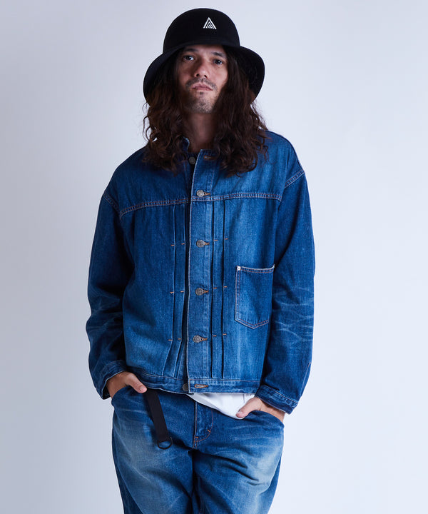BANDCOLLAR DENIM JACKET used