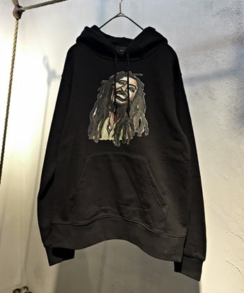 9.7oz hooded sweatshirt-B Bob Marley
