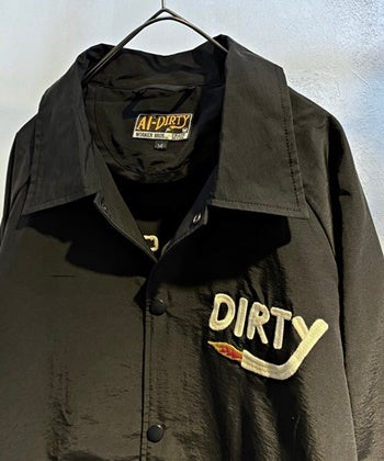 DIRTY FIRE COACH JACKET BLACK