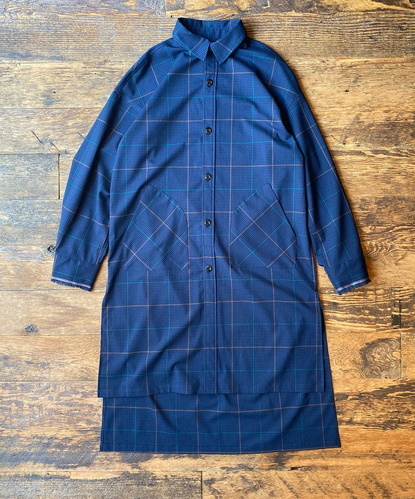 SWALLOWTAIL CHECK SH JACKET