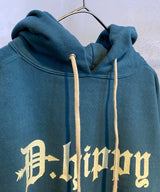 D.HIPPY HOODED SWEAT-BL
