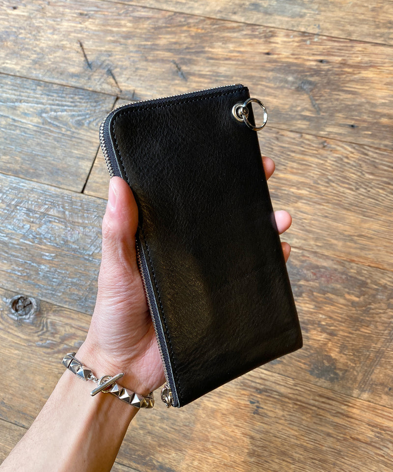 L-SHAPED ZIP MIDDLE WALLET