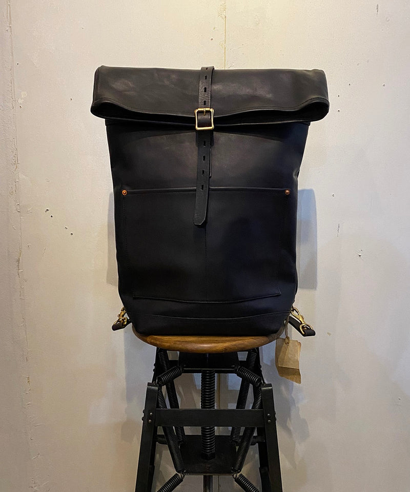 LEATHER ROLL TOP RUCKSACK