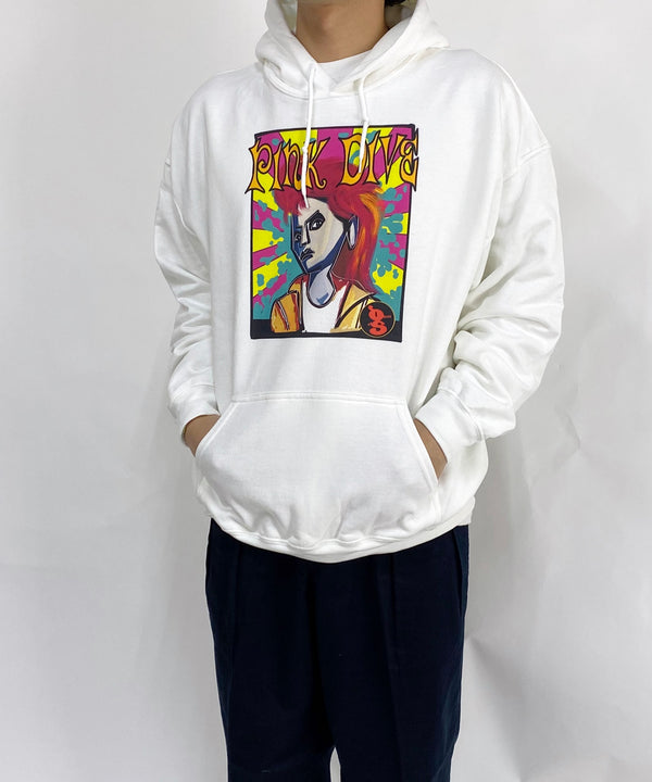 8oz hooded sweat shirt-h hide