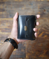 DUAL×EGO TRIPPING / COMPACT WALLET cordovan
