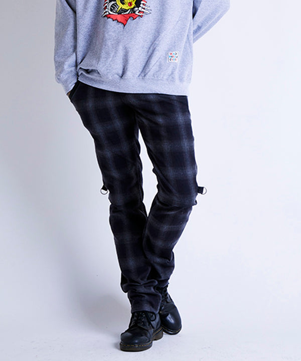 PUSHER OMBRE CHECK PANTS