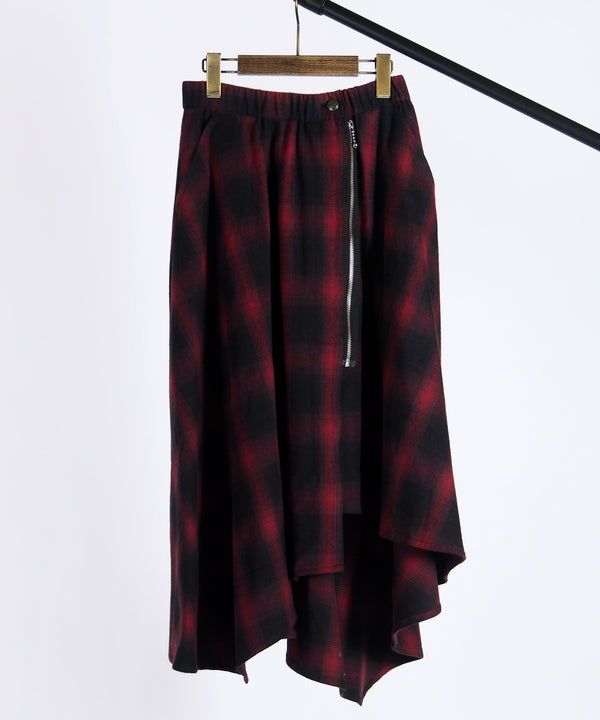 PUSHER OMBRE CHECK SKIRT