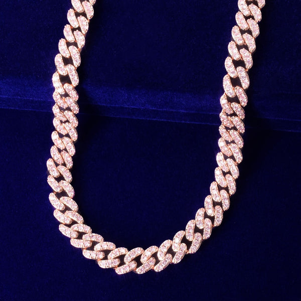 10mm Ladies Rose Gold Cuban Link Chain
