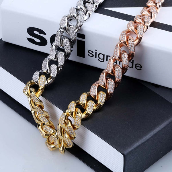 18mm Tri-Color Cuban Link Choker