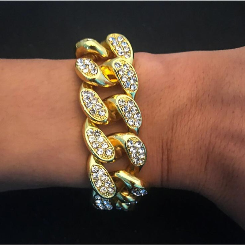 SALE* 20mm Ice Out Cuban link Necklace and Bracelet Set