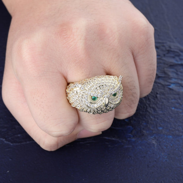 Iced Owl Ring