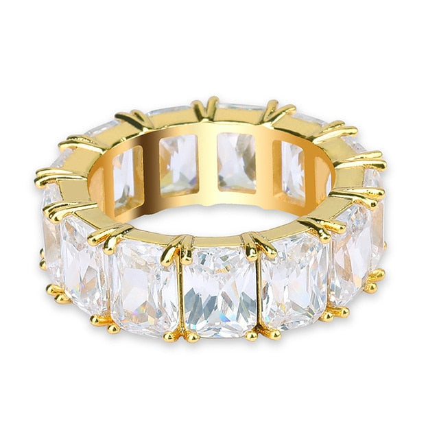 White/Yellow Gold Baguette Diamond Ring