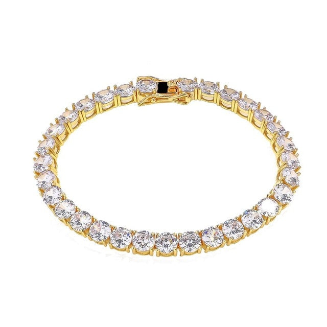 6mm Gold Diamond tennis Bracelet .925