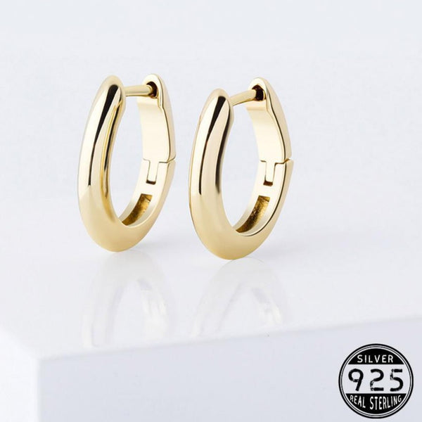 .925 Round Polished Earrings