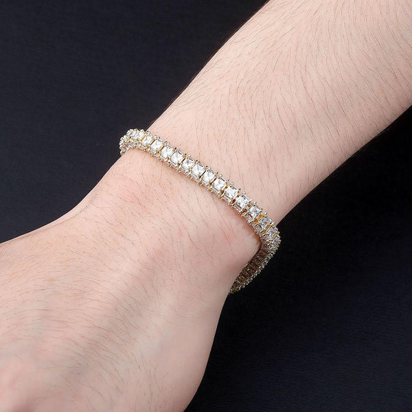 3 Sided Princess Cut Bracelet