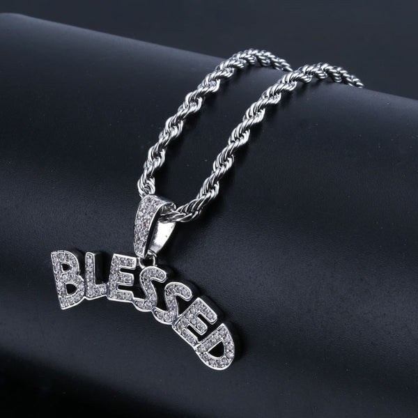 """BLESSED"" Pendant w/ Chain"