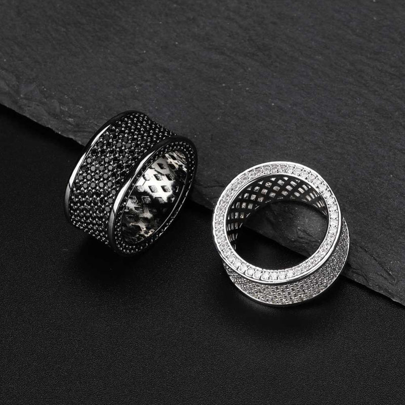 Micro Pave Iced Out Bling Ring