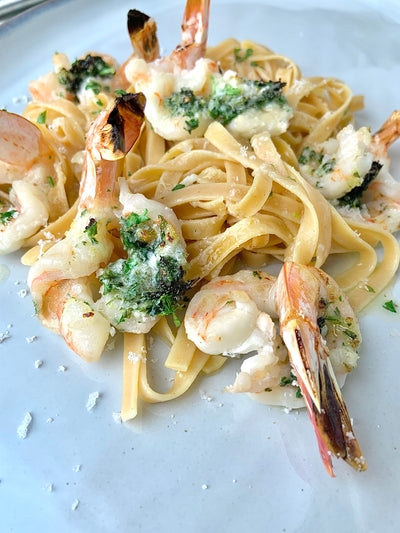 Oven Roasted Shrimp Scampi with Compound Herb Butter
