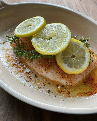 Atlantic Halibut | Topped with Lemon & Rosemary