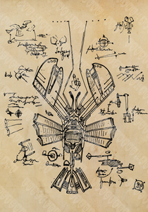 """Da Vinci's Flying Lobster"""