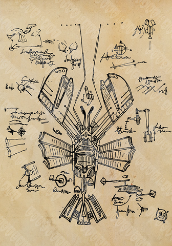 """Da Vinci's Flying Lobster"" Prints"