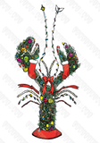 "12 Pack ""Lobster Christmas Tree"" Note Cards - Lobstering Is An Art"